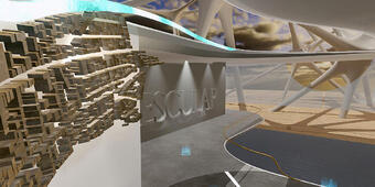 Lobby from Numena's Braun Aesculap Spine VR Simulation
