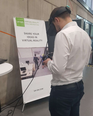Demonstrations of STAGE by vr-on GmbH at the DIVR Business Awards 2019 in Dortmund